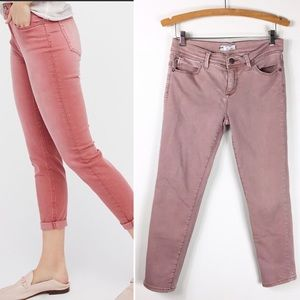 Free People Faded Pink Skinny Cropped Pants 28